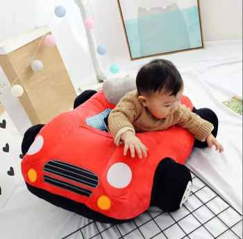 NEW ITEM ARRIVE KIDS SOFA CAR COMFORTABLE TEDDY SEAT RED COLOUR