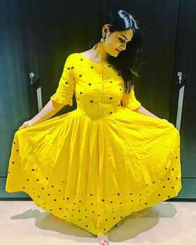 PRESENTING NEW DESIGNER EMBROIDERY BUTTI GOWN FOR WOMEN PARTYWEAR