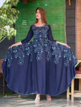 RAYON FABRIC GOWN FOR WOMEN