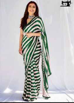 STYLISH DIVA WOMEN SAREE GO FANCY IN THIS GREY AND WHITE COMBINATION