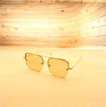 Stylish Latest designs UV protective best quality Sunglasses for Men L Yellow with square