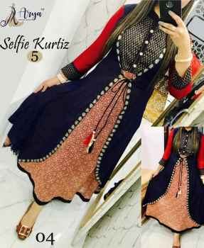 Women long kurti latest trendy casual and partywear blue
